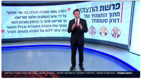רביב דרוקר מדווח על תצהיר דורון סטמפלר נגד וולטר סוריאנו, יולי 2019 (צילום מסך)
