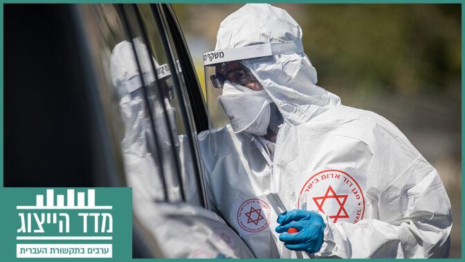 בדיקת קורונה בשייח-ג'ראח, ירושלים, אוגוסט 2020 (צילום: יונתן זינדל)