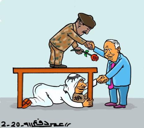 מדינות המפרץ הערביות מעודדות את היחסים בין ישראל לסודאן (הקריקטוריסט הסודני עומר דפעאללה)