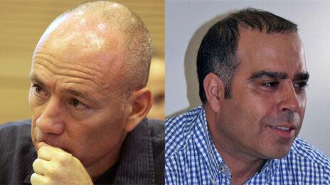 """מנכ""""ל רשת אבי בן טל (מימין) ומנכ""""ל קשת אבי ניר (צילומים: פלאש90 ואורן פרסיקו)"""