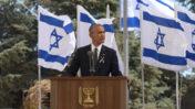"""ברק אובמה, נשיא ארצות-הברית, נואם בהלווייתו של שמעון פרס בהר הרצל. 30.9.2020 (צילום: עמוס בן-גרשום, לע""""מ)"""