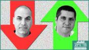 ברוך שי, עורך חטיבת החדשות של תאגיד השידור הציבורי (מימין), וישראל טויטו, עורך חדשות רשת 13 (צילומים: אורן פרסיקו ומיכל צוקר בכור)