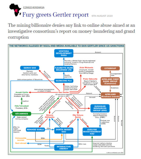 מתוך הכתבה על גרטלר שפורסמה באתר Africa Confidential (לחצו להגדלה)