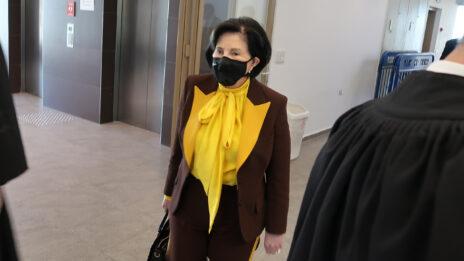 """מרים (מימי) נופך-מוזס בבית-המשפט המחוזי בתל-אביב, 27.12.2020 (צילום: איתמר ב""""ז)"""