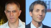 """אורי לוין, מנכ""""ל בנק דיסקונט (מימין), ונוני מוזס, מו""""ל """"ידיעות אחרונות"""" (צילומים: מארק ישראל סלם ורוני שיצר)"""