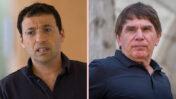 כתב הפלילים של חדשות 12 משה נוסבאום (מימין) ועיתונאי חדשות 13 רביב דרוקר (צילומים: פלאש90)