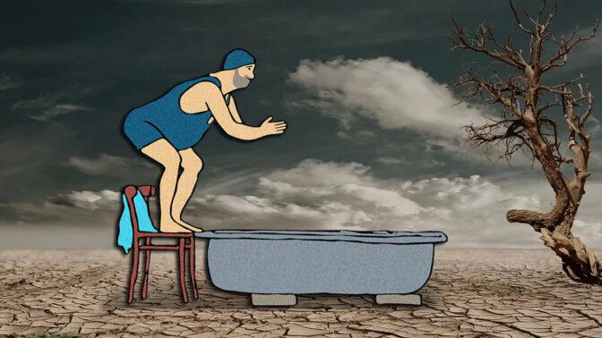מים, משבר האקלים (איורים מקוריים: רשיון CC0)