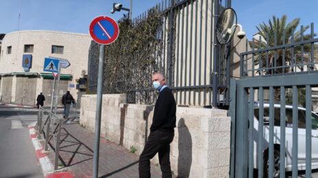 ארנון (נוני) מוזס מחוץ לבית-המשפט המחוזי ירושלים, 8.2.2021 (צילום: אורן פרסיקו)