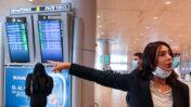 שרת התחבורה מירי רגב מבקרת בנמל התעופה בן-גוריון, 12.8.2020 (צילום: פלאש 90)
