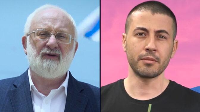 גור מגידו (צילום מסך מתוך שידורי תאגיד השידור הציבורי) ומיכאל לייטמן (צילום מסך מתוך שידורי ynet)