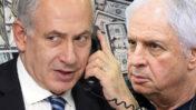"""שאול אלוביץ' ובנימין נתניהו, נאשמים בשוחד בפרשת """"תיק 4000"""" (צילומים מקוריים: פלאש90)"""