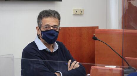 אילן ישועה בבית-המשפט המחוזי בירושלים. 7.4.2021 (צילום: אורן פרסיקו)