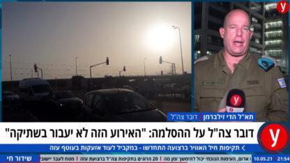 """דובר צה""""ל הדי זילברמן בראיון ל-ynet, השבוע (צילום מסך)"""