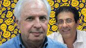 """שאול אלוביץ' (משמאל), נאשם בשוחד לרה""""מ נתניהו בעת שהיה בעל השליטה בבזק וב""""וואלה"""", ואילן ישועה, מנכ""""ל ישועה לשעבר (צילומים מקוריים: פלאש90 ודוברות וואלה)"""