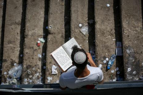 זירת האסון במירון, שלושה ימים לאחר התרחשותו (צילום: דוד כהן)