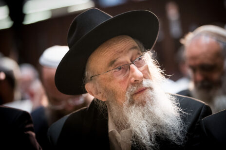הרב צבי טאו. ירושלים, 22.8.2017 (צילום: יונתן זינדל)