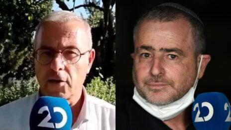 מימין: שמעון ריקלין וקובי פינקלר (צילום: גילי יערי וצילום מסך)