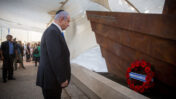 ראש ממשלת ישראל, בנימין נתניהו, באירוע לזכר הרוגי אלטלנה. תל-אביב, 26.5.2021 (צילום: מרים אלסטר)