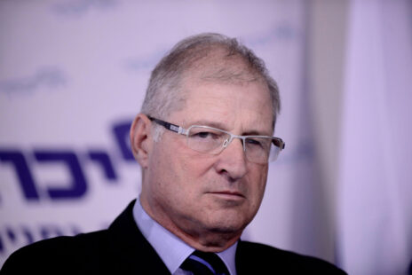 """עו""""ד דוד שמרון במסיבת עיתונאים של מפלגת הליכוד, 1.2.15 (צילום: תומר נויברג)"""