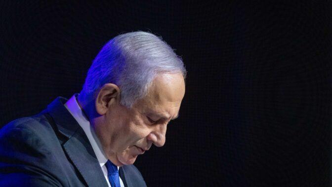 בנימין נתניהו, ראש ממשלת ישראל, 6.6.2021 (צילום: אוליבייה פיטוסי)