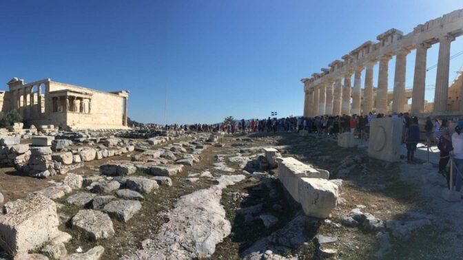 """האקרופוליס באתונה, 2019 (צילום: איתמר ב""""ז)"""