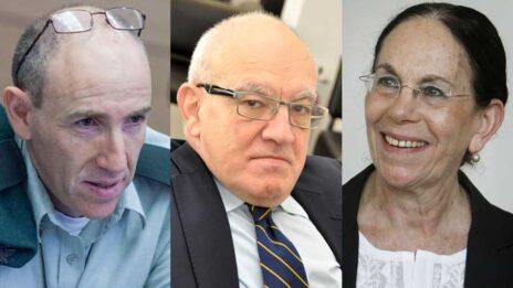 """חברי ועדת השלושה: היו""""ר איילה פרוקצ'יה, שלום קיטל ואיתי ברון (צילומים: פלאש 90, יהודה שגב ונועם מוסקוביץ)"""