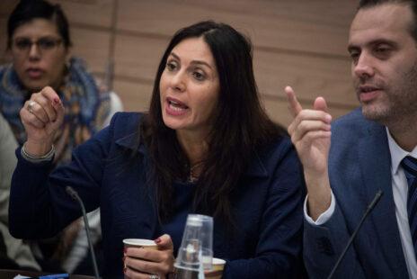השרה מירי רגב וחבר הכנסת מיקי זוהר בכנסת (צילום: הדס פרוש)
