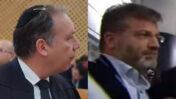 וולטר סוריאנו ועורך דינו אילן בומבך (צילומים: צילום מסך ואורן פרסיקו)