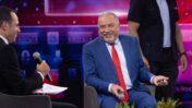 אביגדור ליברמן בוועידה של חדשות 13 (משמאל: המגיש אודי סגל), 3.6.2021 (צילום: יונתן זינדל)