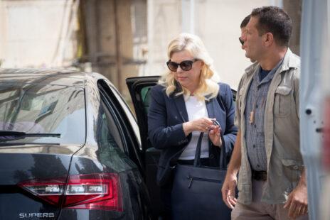 שרה נתניהו מגיעה לדיון במשפט הפלילי נגדה בפרשת המעונות, 7.10.18 (צילום: יונתן זינדל)