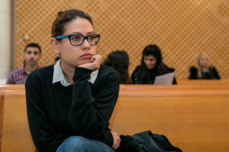 ענת קם בבית-המשפט העליון, ינואר 2020 (צלום: אוליבייה פיטוסי)
