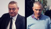 """מו""""ל """"ידיעות אחרונות"""" ארנון (נוני) מוזס (מימין) ושופט המחוזי חאלד כבוב (צילומים: רועי אלומה, פלאש 90)"""