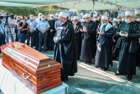 הלווייתו של סאהר איסמעיל, יועץ שרת החינוך, שנרצח בראמה, 16.8.2021 (צילום: פלאש 90)