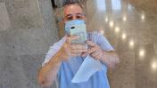 """אלי ציפורי בבית-משפט השלום בהרצליה, בתום דיון בתביעה שהגיש נגדו אבישי גרינצייג, 9.9.2021 (צילום: איתמר ב""""ז)"""