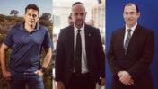 מימין: חברי הכנסת שמחה רוטמן (הציונות הדתית), אמיר אוחנה (הליכוד) ועמיחי שיקלי (ימינה) (צילומים: פלאש 90)